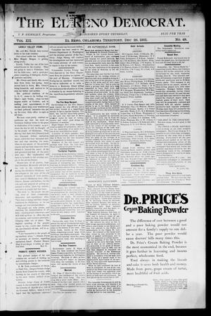 Primary view of object titled 'The El Reno Democrat. (El Reno, Okla. Terr.), Vol. 7, No. 48, Ed. 1 Thursday, December 26, 1901'.
