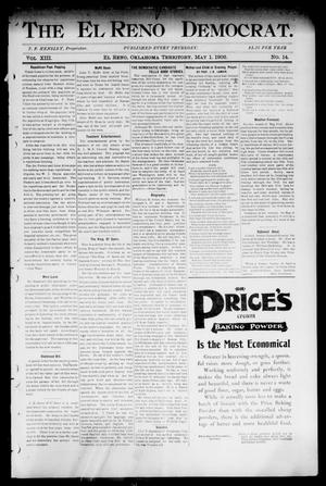 Primary view of object titled 'The El Reno Democrat. (El Reno, Okla. Terr.), Vol. 8, No. 14, Ed. 1 Thursday, May 1, 1902'.