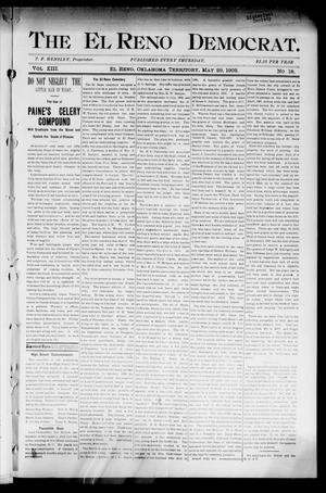 Primary view of object titled 'The El Reno Democrat. (El Reno, Okla. Terr.), Vol. 8, No. 18, Ed. 1 Thursday, May 29, 1902'.