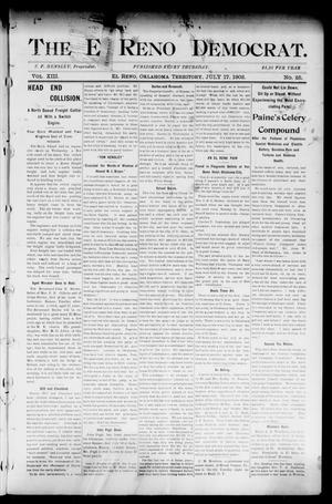 Primary view of object titled 'The El Reno Democrat. (El Reno, Okla. Terr.), Vol. 8, No. 25, Ed. 1 Thursday, July 17, 1902'.