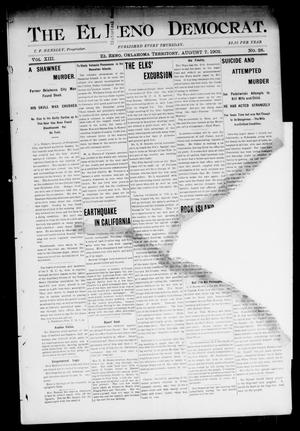 Primary view of object titled 'The El Reno Democrat. (El Reno, Okla. Terr.), Vol. 8, No. 28, Ed. 1 Thursday, August 7, 1902'.