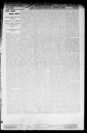 Primary view of object titled 'The El Reno Democrat. (El Reno, Okla. Terr.), Vol. 8, No. 29, Ed. 1 Thursday, August 14, 1902'.