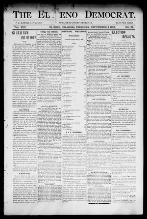 Primary view of object titled 'The El Reno Democrat. (El Reno, Okla. Terr.), Vol. 8, No. 32, Ed. 1 Thursday, September 4, 1902'.