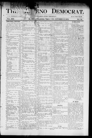 Primary view of object titled 'The El Reno Democrat. (El Reno, Okla. Terr.), Vol. 8, No. 38, Ed. 1 Thursday, October 16, 1902'.