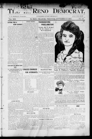 Primary view of object titled 'The El Reno Democrat. (El Reno, Okla. Terr.), Vol. 8, No. 33, Ed. 1 Thursday, November 20, 1902'.