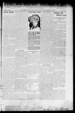 Primary view of object titled 'The El Reno Democrat. (El Reno, Okla. Terr.), Vol. 8, No. 34, Ed. 1 Thursday, November 27, 1902'.