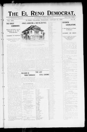 Primary view of object titled 'The El Reno Democrat. (El Reno, Okla. Terr.), Vol. 8, No. 51, Ed. 1 Thursday, January 15, 1903'.