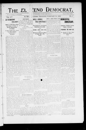 Primary view of object titled 'The El Reno Democrat. (El Reno, Okla. Terr.), No. 4, Ed. 1 Thursday, February 19, 1903'.