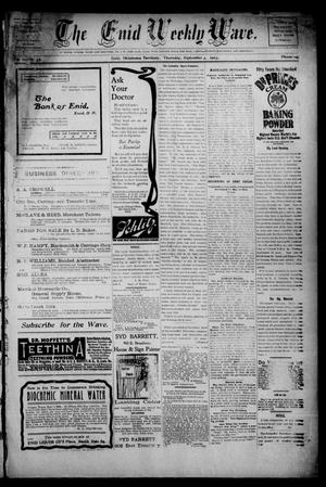 The Enid Weekly Wave. (Enid, Okla. Terr.), Vol. 10, No. 35, Ed. 1 Thursday, September 3, 1903
