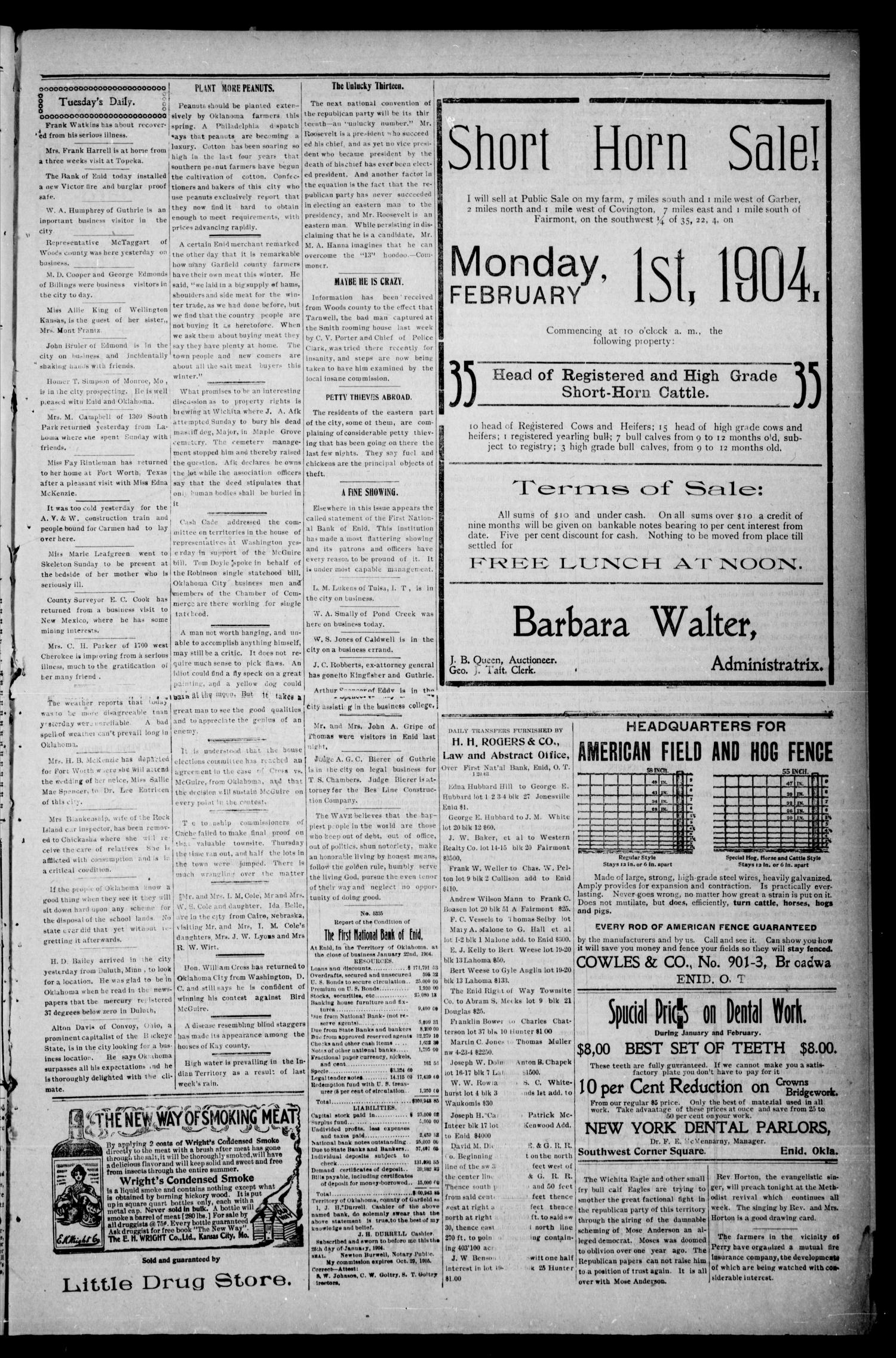 The Enid Weekly Wave. (Enid, Okla. Terr.), Vol. 11, No. 4, Ed. 1 Thursday, January 28, 1904                                                                                                      [Sequence #]: 3 of 8