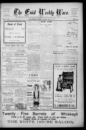 The Enid Weekly Wave. (Enid, Okla. Terr.), Vol. 11, No. 28, Ed. 1 Thursday, July 14, 1904