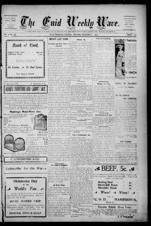 The Enid Weekly Wave. (Enid, Okla. Terr.), Vol. 11, No. 35, Ed. 1 Thursday, September 1, 1904