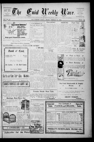 The Enid Weekly Wave. (Enid, Okla. Terr.), Vol. 11, No. 39, Ed. 1 Thursday, September 29, 1904