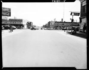 Primary view of object titled 'Street View of South Robinson in Oklahoma City'.