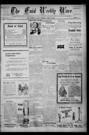 The Enid Weekly Wave. (Enid, Okla. Terr.), Vol. 12, No. 31, Ed. 1 Thursday, August 3, 1905