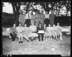 Primary view of object titled 'Barton Family Group at Birthday Celebration'.