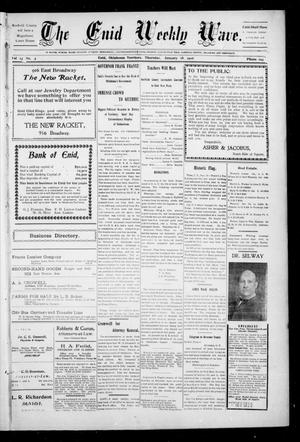 The Enid Weekly Wave. (Enid, Okla. Terr.), Vol. 13, No. 3, Ed. 1 Thursday, January 18, 1906