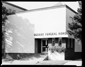 Primary view of object titled 'Perrine Funeral Home in Oklahoma City, Oklahoma'.