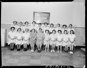 Primary view of object titled 'Group of Women at Capitol Hill Jr. High School in Oklahoma City, Oklahoma'.