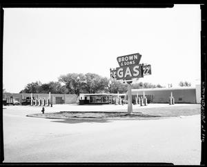 Primary view of object titled 'Brown and Sons Gas Station in Oklahoma City, Oklahoma'.