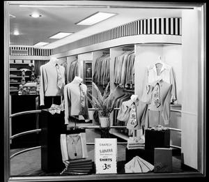Primary view of object titled 'Dodd's Men's Clothing Store Window Display in Oklahoma City, Oklahoma.'.
