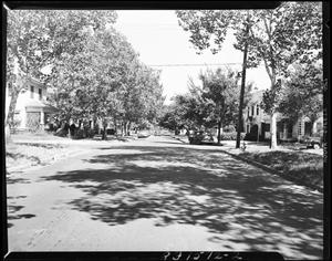 Primary view of object titled 'Street View and Residences in Oklahoma City, Oklahoma'.