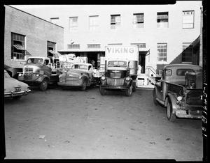 Primary view of object titled 'Vehicles at a Loading Dock in Oklahoma City, Oklahoma'.