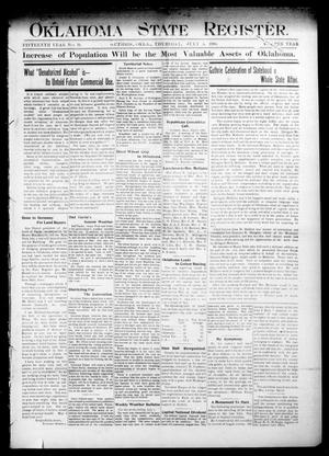 Oklahoma State Register. (Guthrie, Okla.), Vol. 15, No. 24, Ed. 1 Thursday, July 5, 1906