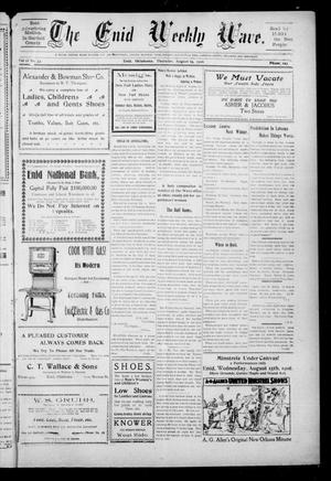 The Enid Weekly Wave. (Enid, Okla. Terr.), Vol. 13, No. 33, Ed. 1 Thursday, August 16, 1906