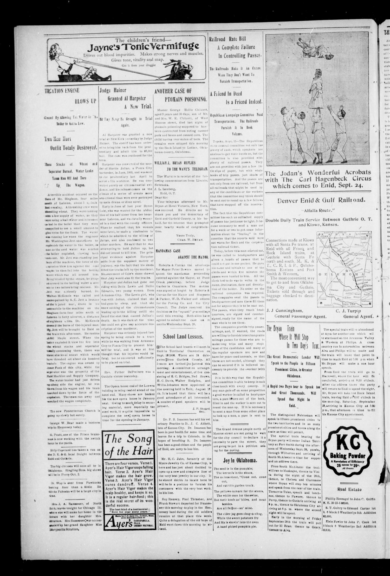 The Enid Weekly Wave. (Enid, Okla. Terr.), Vol. 13, No. 38, Ed. 1 Thursday, September 20, 1906                                                                                                      [Sequence #]: 4 of 10