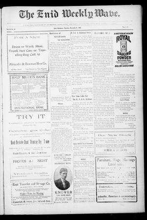 The Enid Weekly Wave. (Enid, Okla. Terr.), Vol. 13, No. 45, Ed. 1 Thursday, November 8, 1906