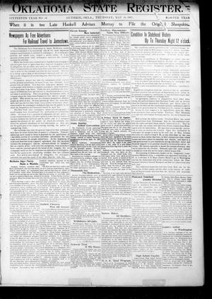 Oklahoma State Register. (Guthrie, Okla.), Vol. 16, No. 16, Ed. 1 Thursday, May 16, 1907