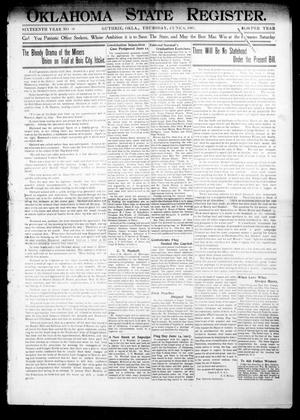 Primary view of object titled 'Oklahoma State Register. (Guthrie, Okla.), Vol. 16, No. 19, Ed. 1 Thursday, June 6, 1907'.