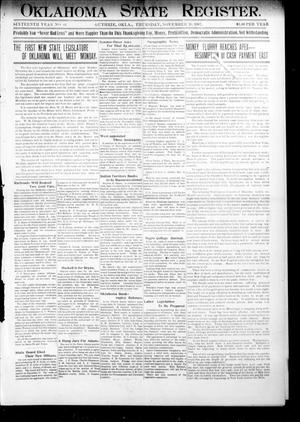 Oklahoma State Register. (Guthrie, Okla.), Vol. 16, No. 44, Ed. 1 Thursday, November 28, 1907