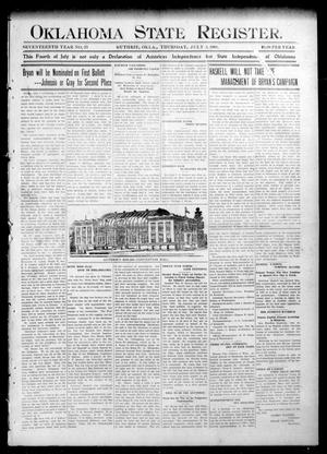 Oklahoma State Register. (Guthrie, Okla.), Vol. 17, No. 23, Ed. 1 Thursday, July 2, 1908