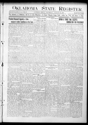 Oklahoma State Register. (Guthrie, Okla.), Vol. 17, No. 29, Ed. 1 Thursday, August 13, 1908