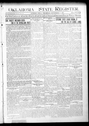 Oklahoma State Register. (Guthrie, Okla.), Vol. 17, No. 34, Ed. 1 Thursday, September 17, 1908