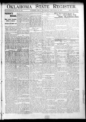 Oklahoma State Register. (Guthrie, Okla.), Vol. 17, No. 40, Ed. 1 Thursday, December 10, 1908