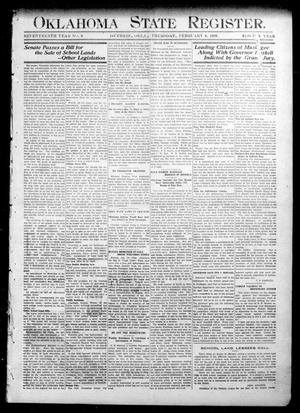 Primary view of object titled 'Oklahoma State Register. (Guthrie, Okla.), Vol. 17, No. 47, Ed. 1 Thursday, February 4, 1909'.