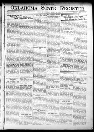 Primary view of object titled 'Oklahoma State Register. (Guthrie, Okla.), Vol. 18, No. 5, Ed. 1 Thursday, April 15, 1909'.