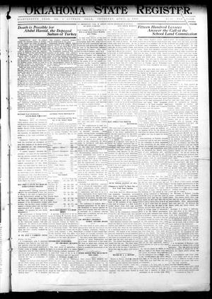 Primary view of object titled 'Oklahoma State Register. (Guthrie, Okla.), Vol. 18, No. 7, Ed. 1 Thursday, April 29, 1909'.