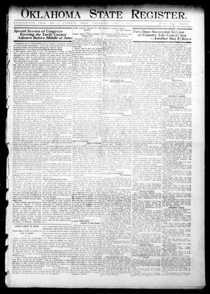 Primary view of object titled 'Oklahoma State Register. (Guthrie, Okla.), Vol. 18, No. 8, Ed. 1 Thursday, May 6, 1909'.