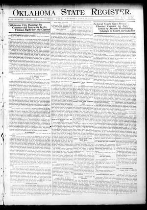 Primary view of object titled 'Oklahoma State Register. (Guthrie, Okla.), Vol. 18, No. 14, Ed. 1 Thursday, June 10, 1909'.