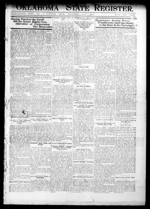 Primary view of object titled 'Oklahoma State Register. (Guthrie, Okla.), Vol. 18, No. 17, Ed. 1 Thursday, July 1, 1909'.
