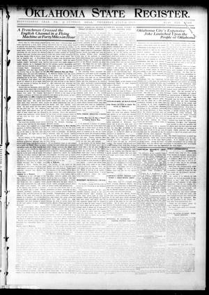 Primary view of object titled 'Oklahoma State Register. (Guthrie, Okla.), Vol. 18, No. 21, Ed. 1 Thursday, July 29, 1909'.