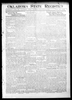 Primary view of object titled 'Oklahoma State Register. (Guthrie, Okla.), Vol. 18, No. 26, Ed. 1 Thursday, September 2, 1909'.