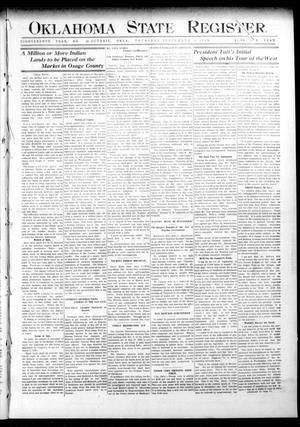 Primary view of object titled 'Oklahoma State Register. (Guthrie, Okla.), Vol. 18, No. 28, Ed. 1 Thursday, September 16, 1909'.