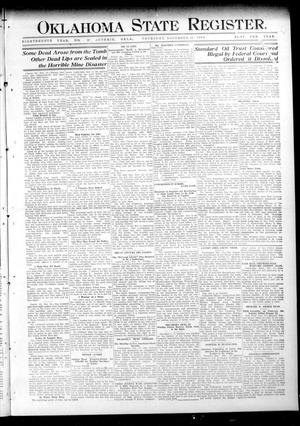 Primary view of object titled 'Oklahoma State Register. (Guthrie, Okla.), Vol. 18, No. 37, Ed. 1 Thursday, November 25, 1909'.