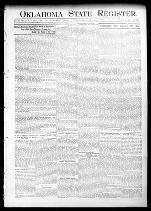 Primary view of object titled 'Oklahoma State Register. (Guthrie, Okla.), Vol. 18, No. 38, Ed. 1 Thursday, December 2, 1909'.