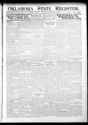Primary view of object titled 'Oklahoma State Register. (Guthrie, Okla.), Vol. 18, No. 41, Ed. 1 Thursday, December 23, 1909'.